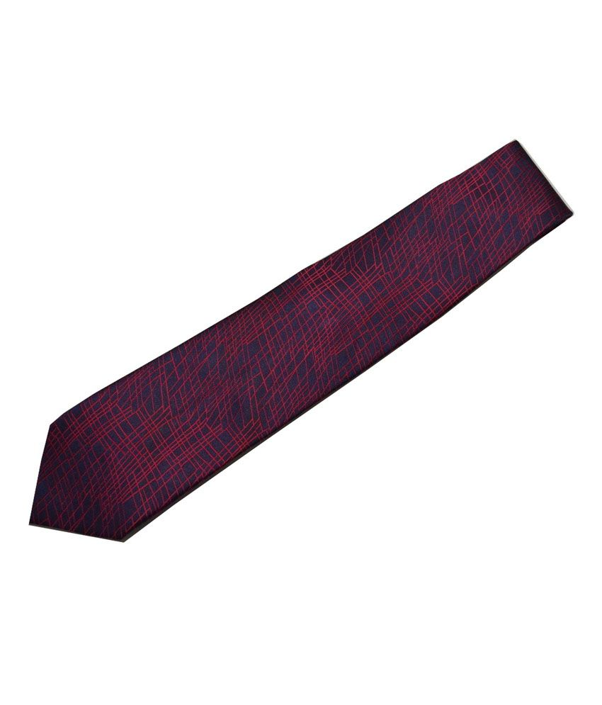 Sakshi International Dark Blue & Red Printed Tie