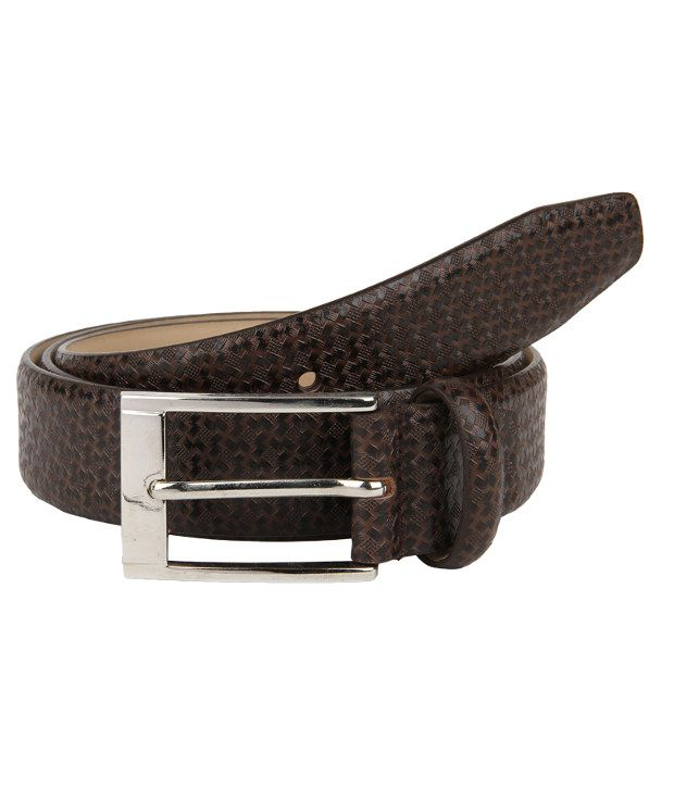Lino Perros Brown Formal Single Belt For Men