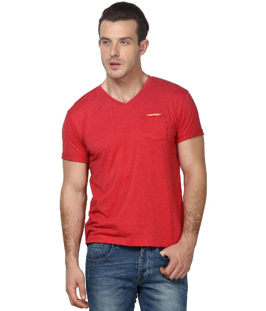 Monteil & Munero Red Cotton Blend T-shirt