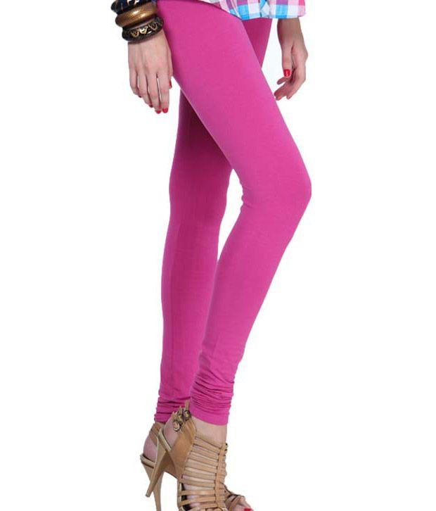 Femmora Pink Cotton Leggings