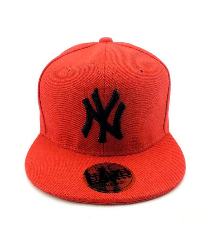 Jstarmart Red Polyester Baseball Cap Men