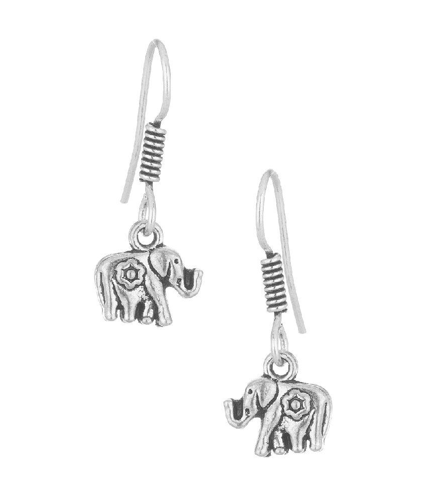Voylla Dangler Earrings Featuring Elephant