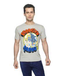 Globus Beige Half Sleeves Cotton Round T-shirt
