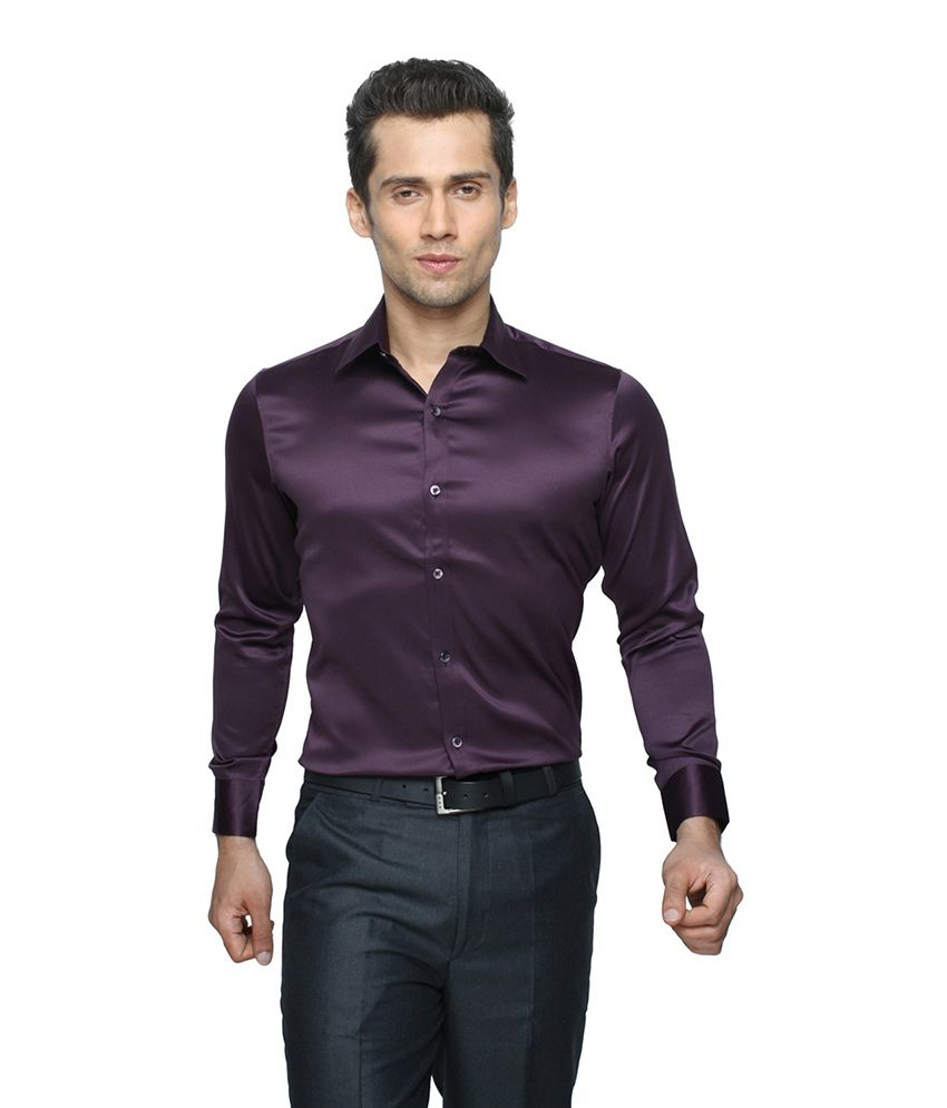 3fd93526f6b Globus Purple Party Wear Shirt For Men - Buy Globus Purple Party Wear Shirt  For Men Online at Best Prices in India on Snapdeal
