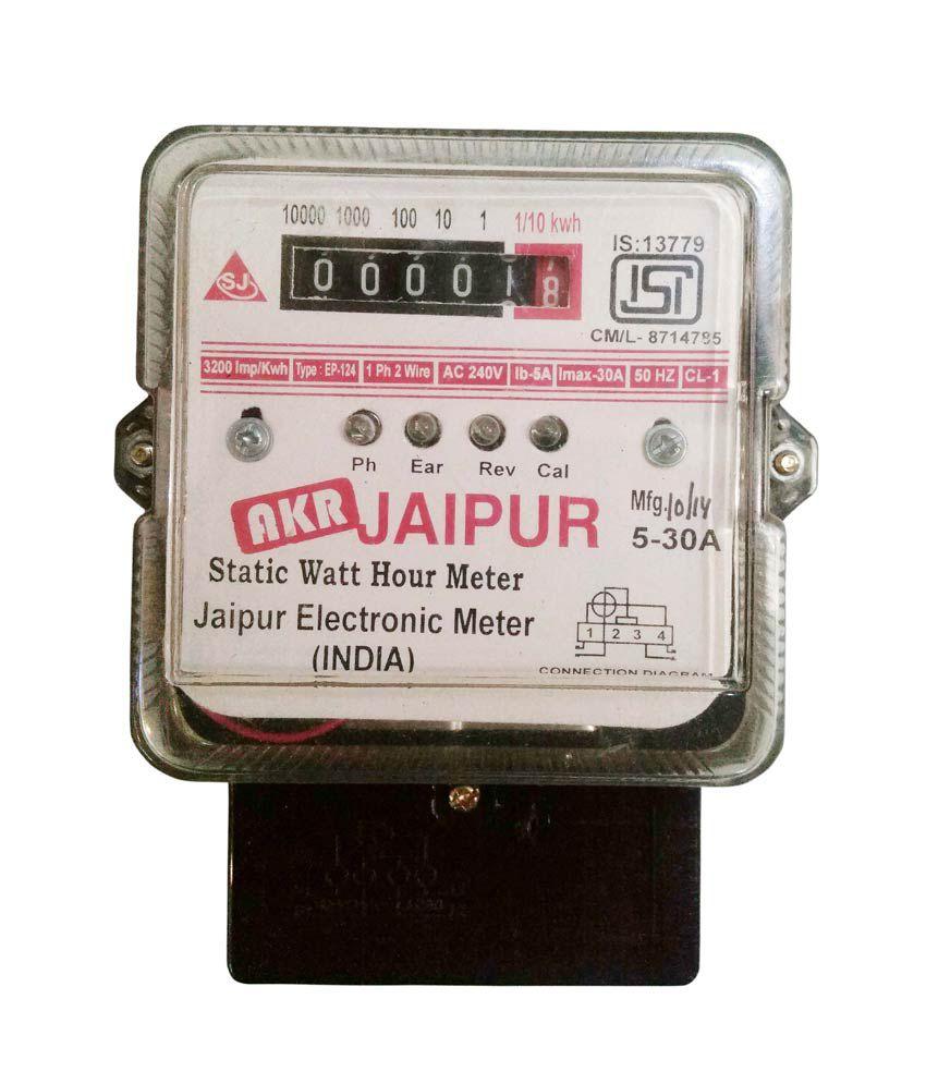 Buy Jaipur Electrical Sub Meter Static Watt Hour Meter