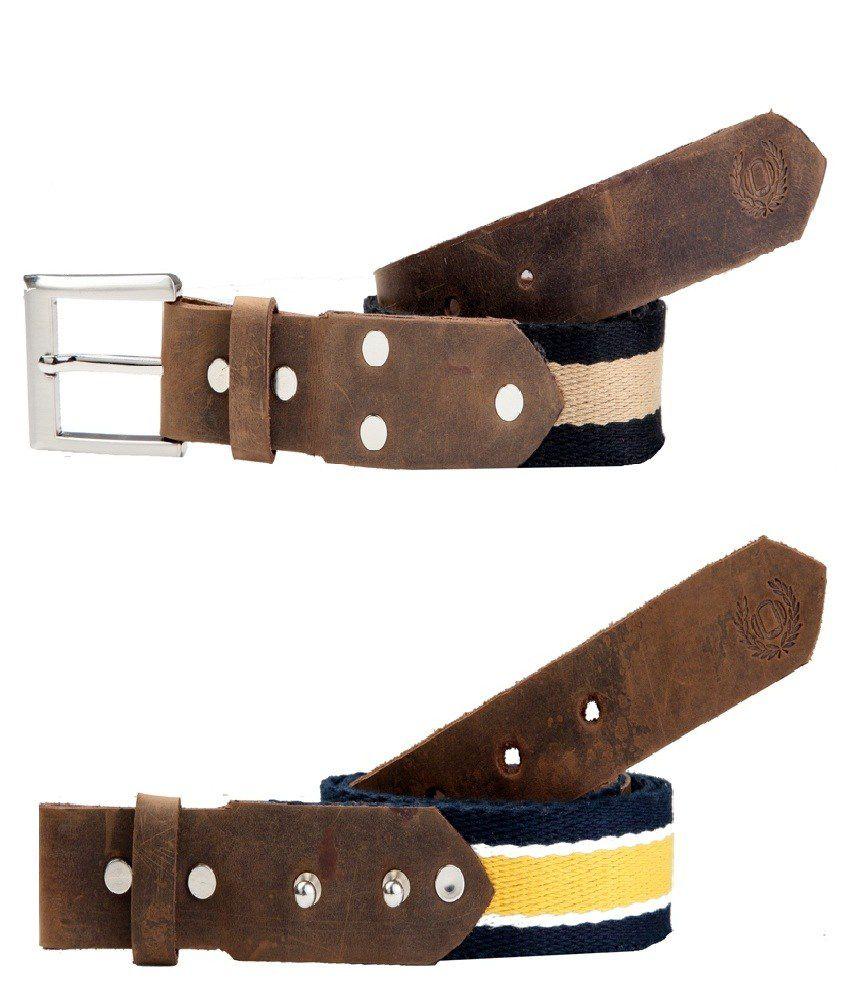 La Kravate Non Leather deisgner 2 Belt Combo