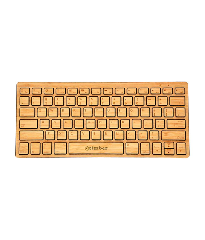 Otimber ylus0176 Brown Wireless Desktop Keyboard Keyboard