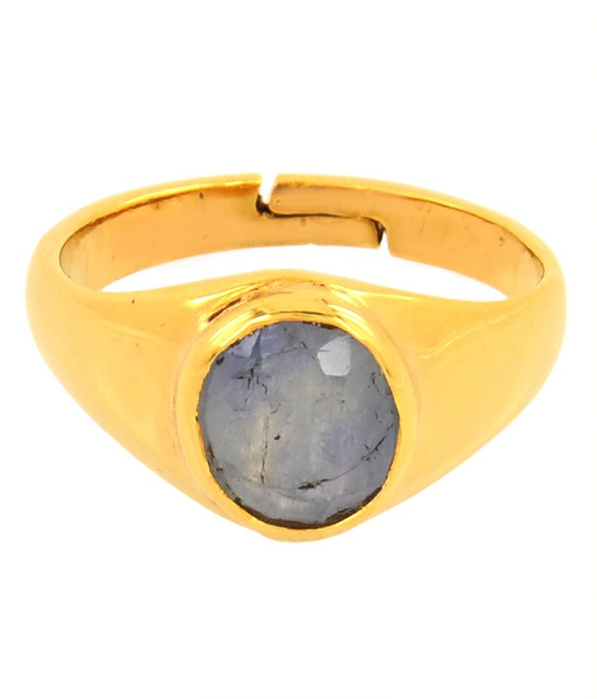 Avaatar 5.25 Ratti Natural Neelam Stone 5 Dhatu Adjustable Ring
