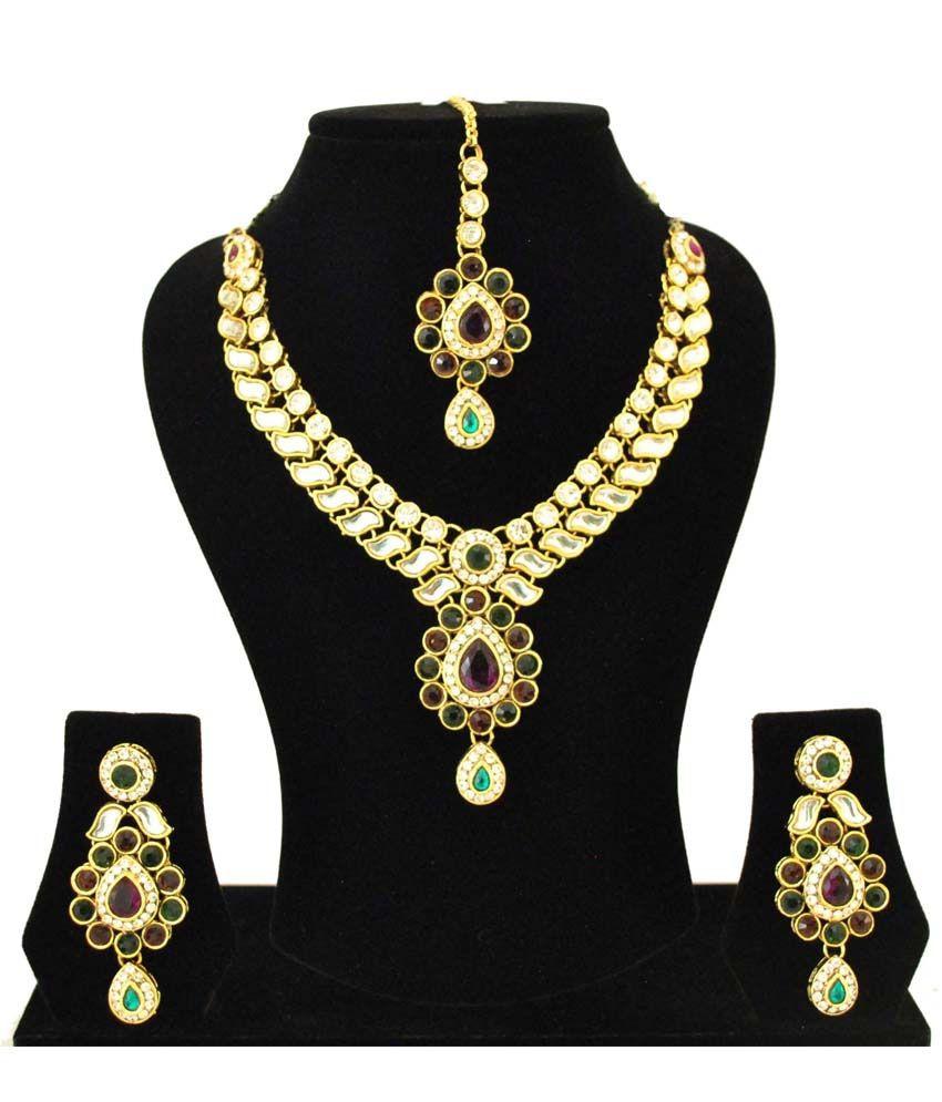 Fashinography Kundan Necklace