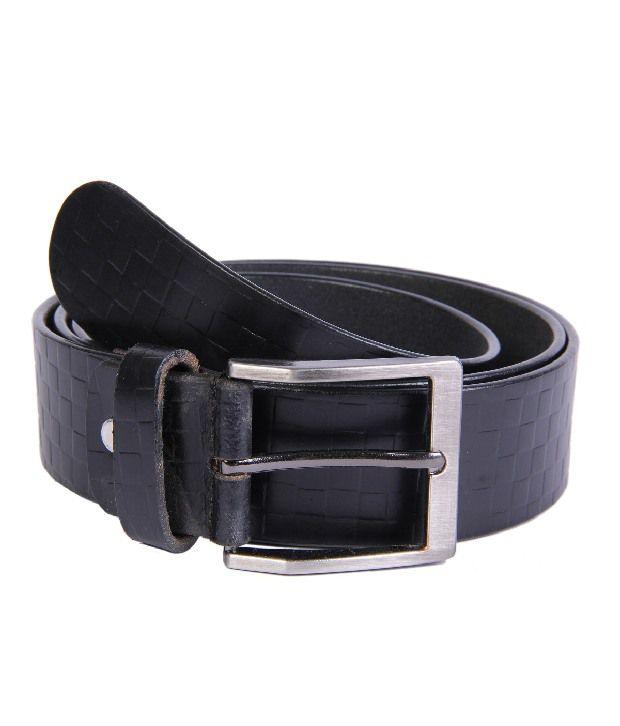 Passion Star Black Casual Single Belt For Men
