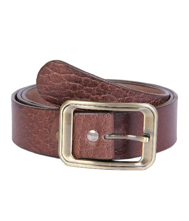 Passion Star Brown Casual Single Belt For Men