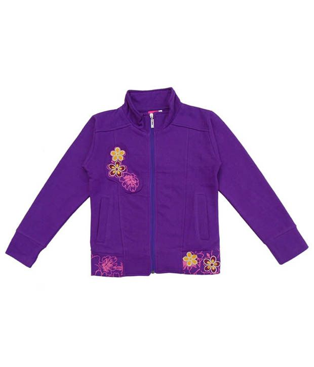 Sweet Angel Classy Purple Sweatshirt For Girls