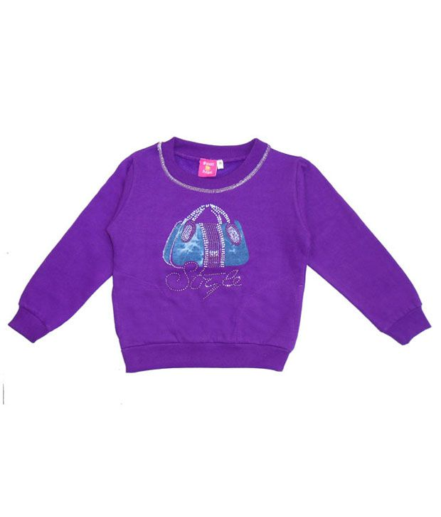 Sweet Angel Purple Sweatshirt For Girls