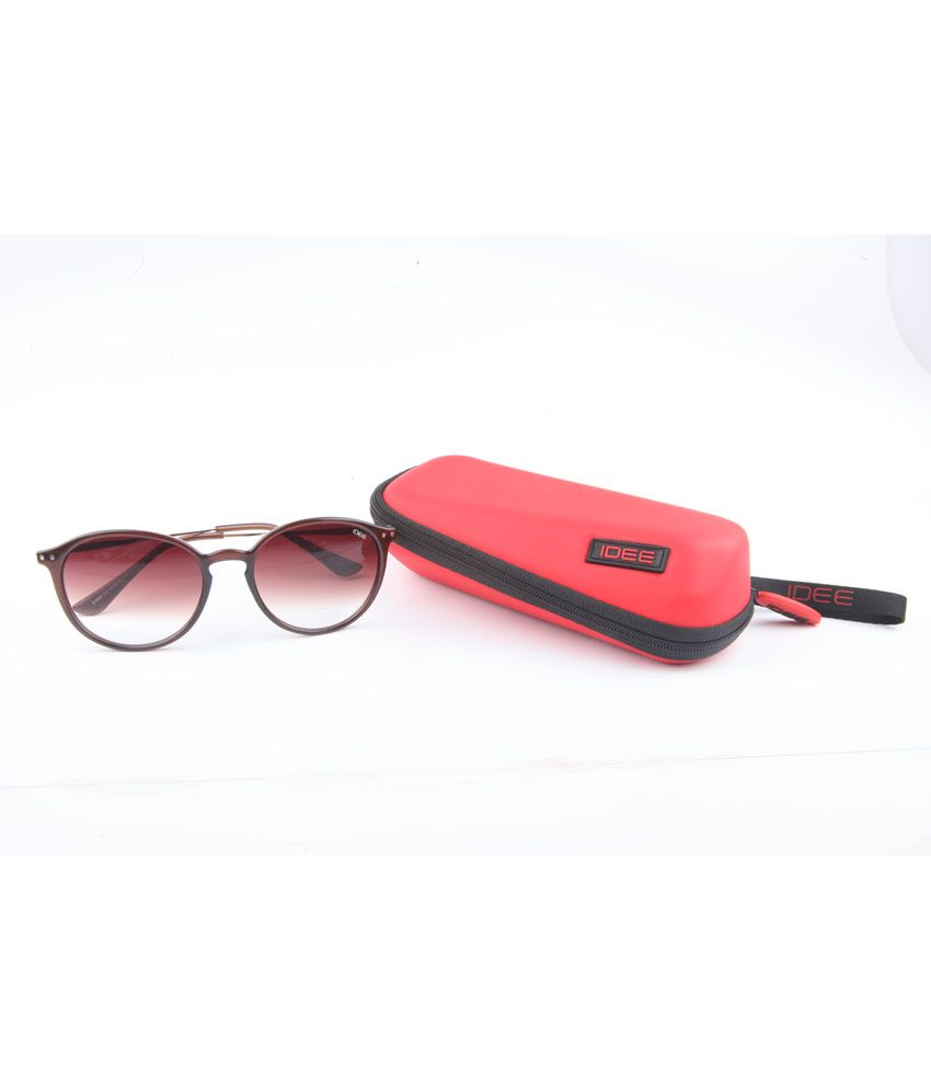 Idee Brown Non Metal Uv Protection Oblong Round Casual Sunglasses