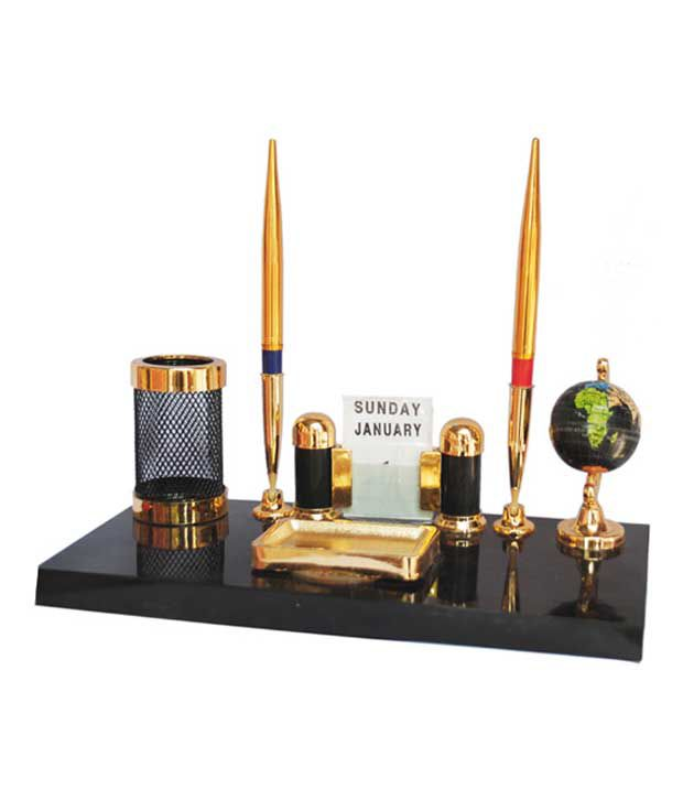 Pen Stand Designs : Kebica pen stand with mountable globe and date calender