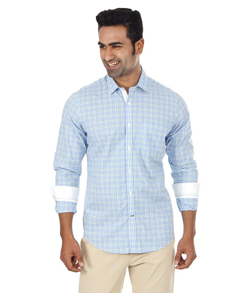 london fog blue casuals shirt buy london fog blue