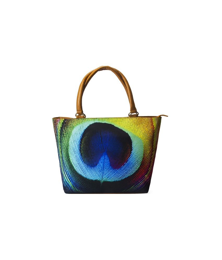 Mesmerizink Multi Peacock Feather Tote Bags