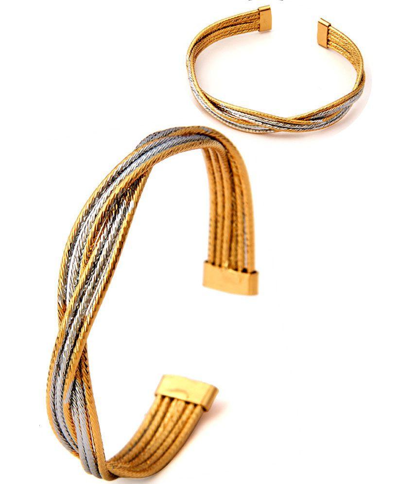 Ravishing Rhodium  Studded Bracelet