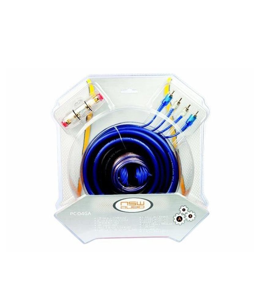 Autotrends Nsw Audio Universal Car Amplifier Installation Wiring Gauge 2channel Complete Kit Vehicle Wire Amp 4