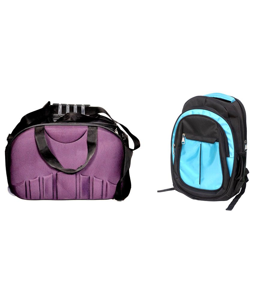 D Jindals Blue With Purple Gym Bag