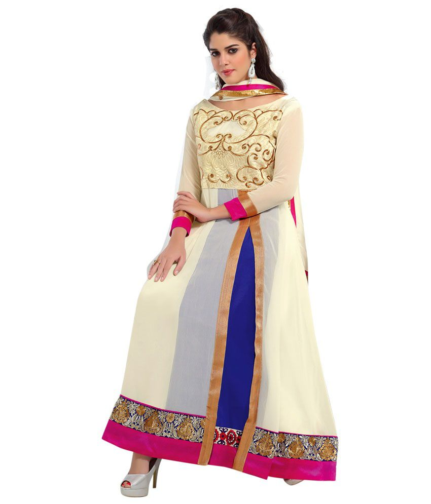 Ethnic Basket Multi Pure Georgette Anarkali
