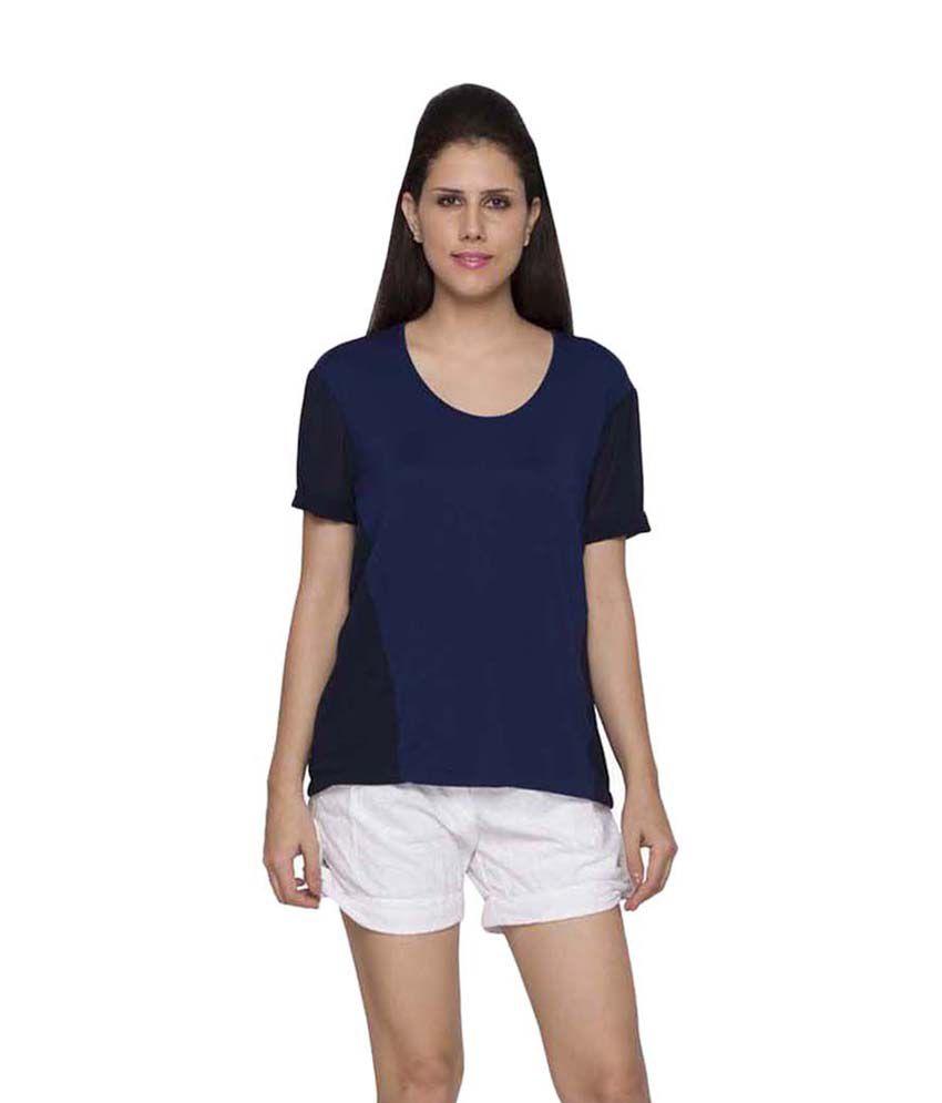 7b16db0ed84c6d Globus Blue Viscose Tops - Buy Globus Blue Viscose Tops Online at Best  Prices in India on Snapdeal