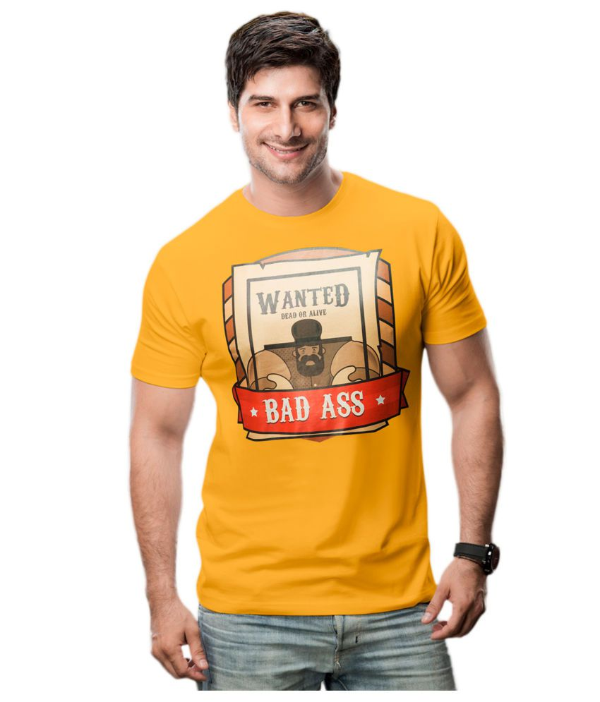 Imagica Yellow Cotton T-shirt
