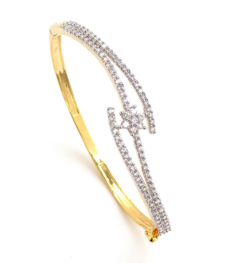 Nishugems Just Like Diamonds Gold German Silver Bracelet