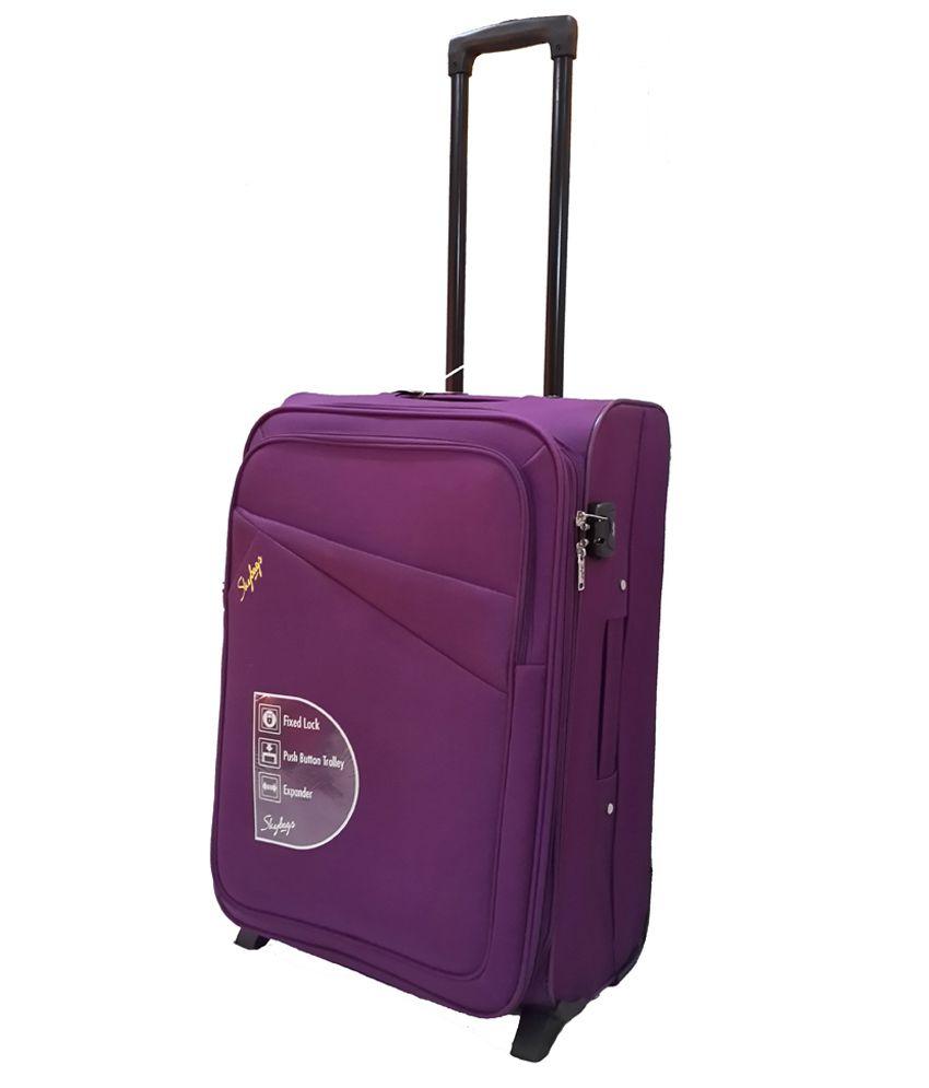 Skybags Purple 2 Wheel  Soft Trolley-Size Small (Below 60 CM)