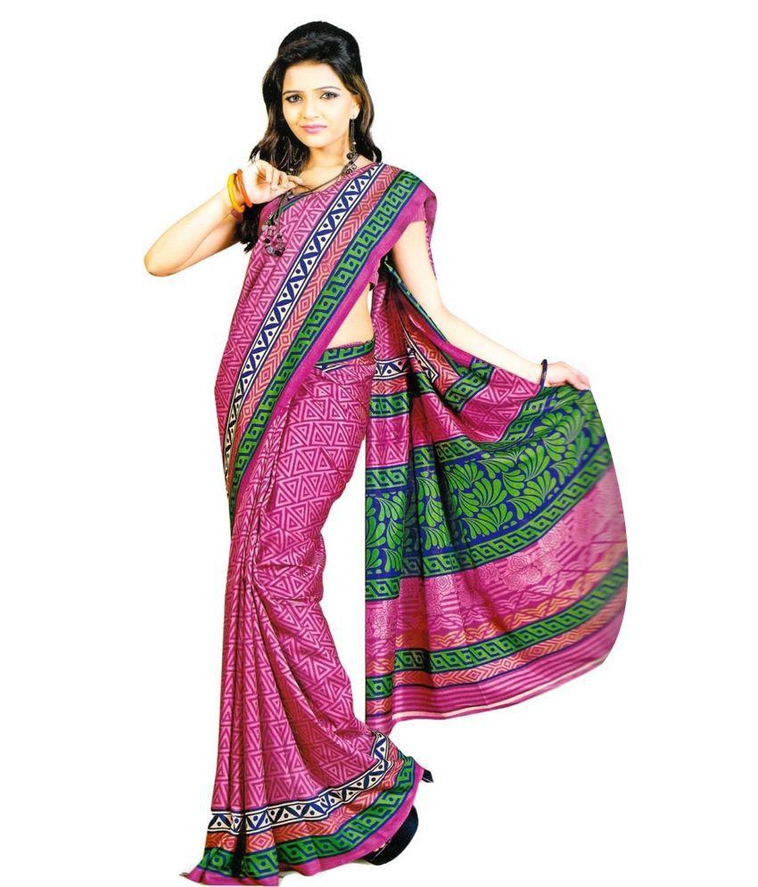 myfab pink matka silk saree buy myfab pink matka silk saree online at low price. Black Bedroom Furniture Sets. Home Design Ideas