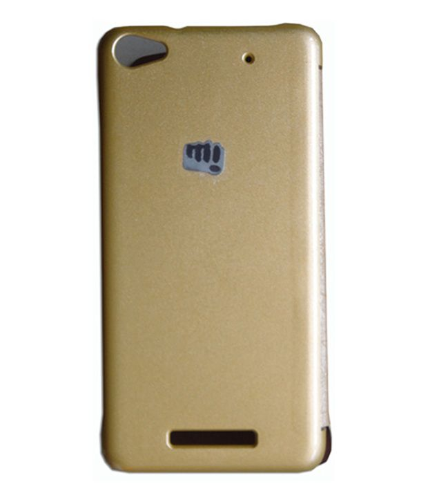brand new 9a281 e3e10 N+ INDIA Back Cover For Micromax Canvas 4 Plus A315 Gold