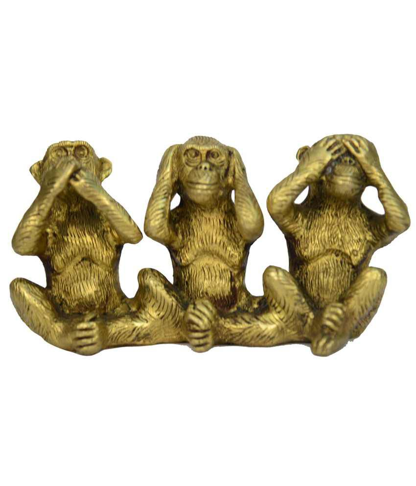 Vyom Shop Medium Three Monkeys Statue
