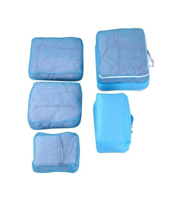 ... Pack N Buy Blue 5 In 1 Travel Bag Organizer - Set Of 5 Bags ...