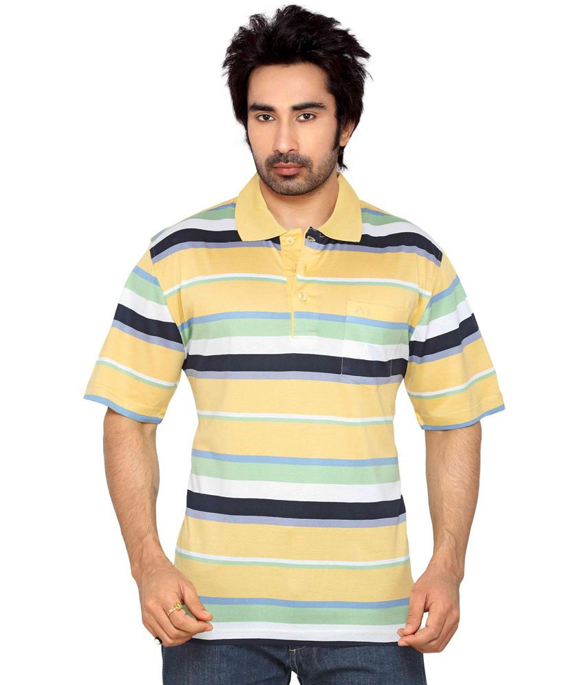 Thinc Gold Cotton Half Sleeve Basic T-shirt For Men