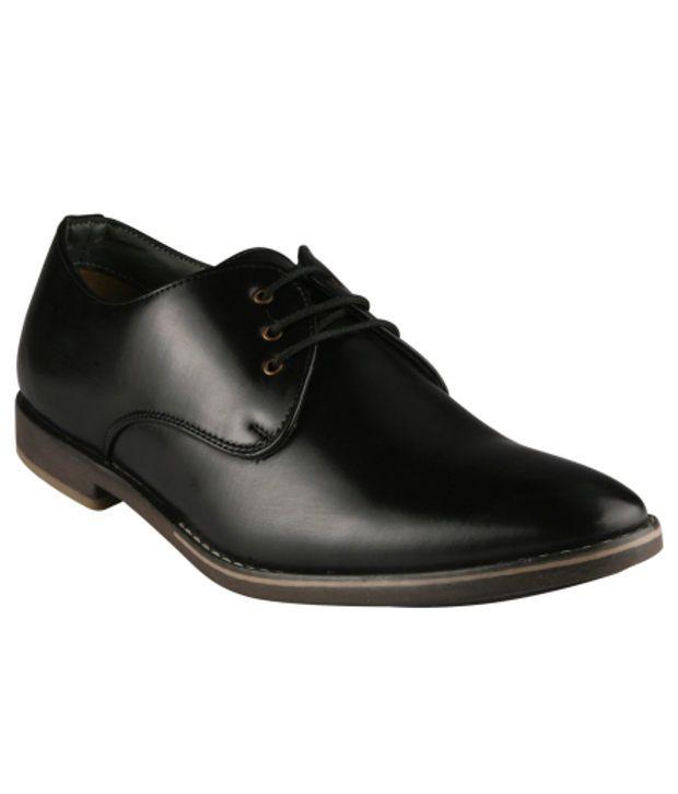 Wave Walk Black Formal Shoes
