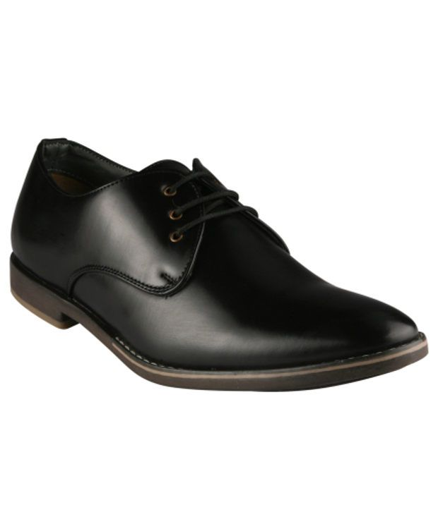 Wave Walk Black Formal Shoes