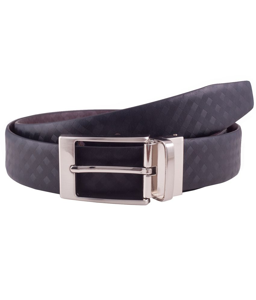 Ekvi Black Genuine Italian Leather Belt For Men