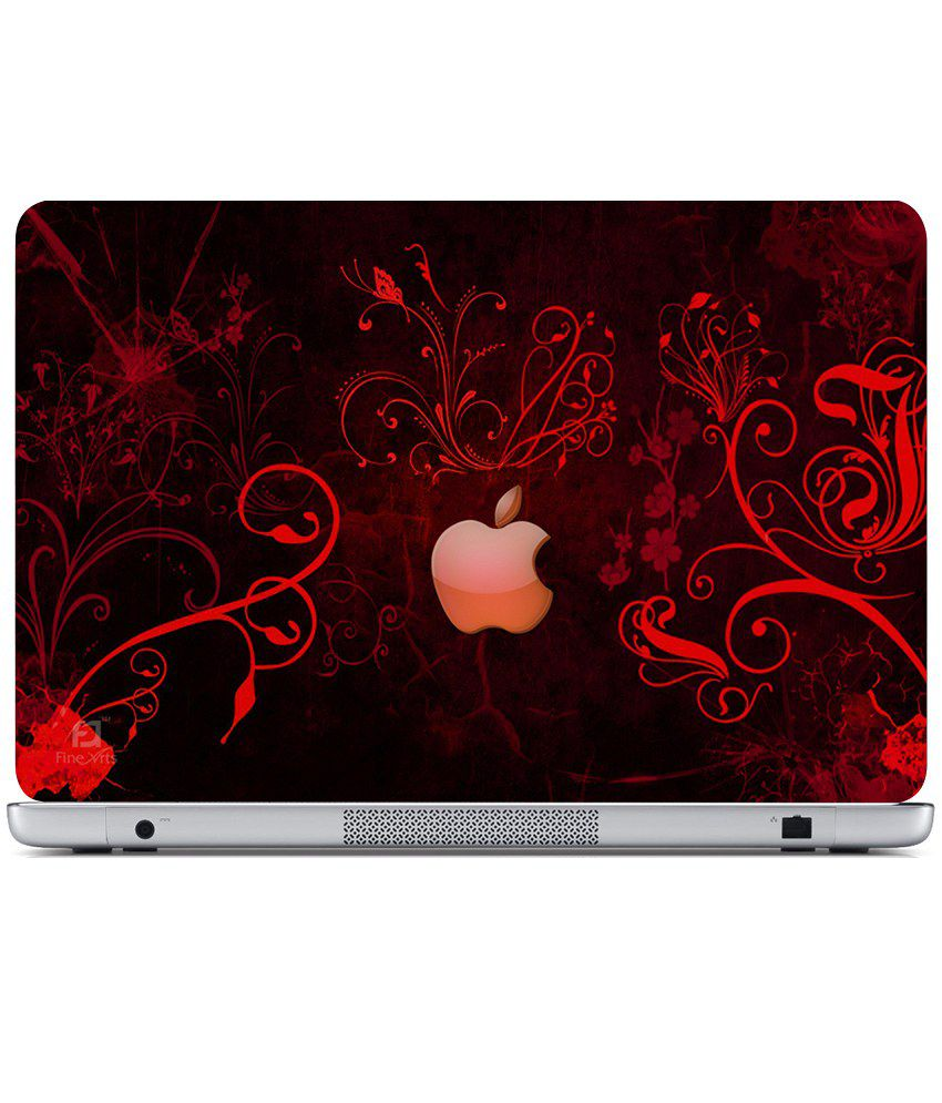 Finearts Textured Laptop Skin Apple Orange Wallpaper Printed