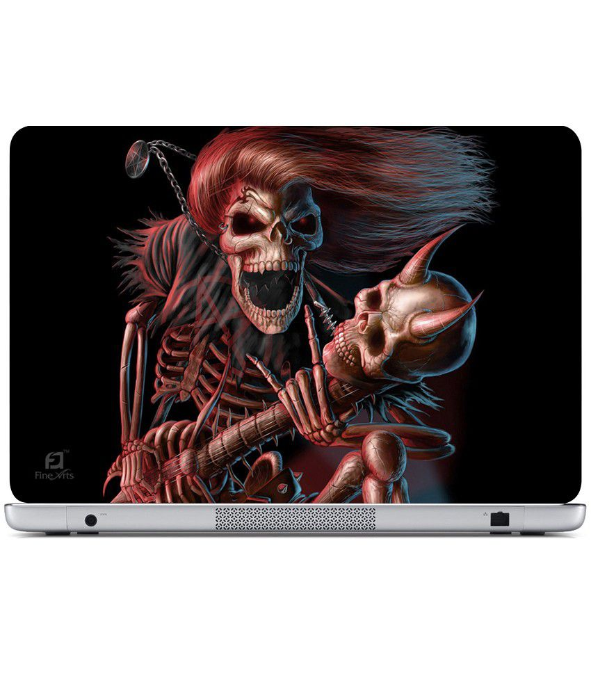 Finearts Textured Laptop Skin Lady Ghost Printed