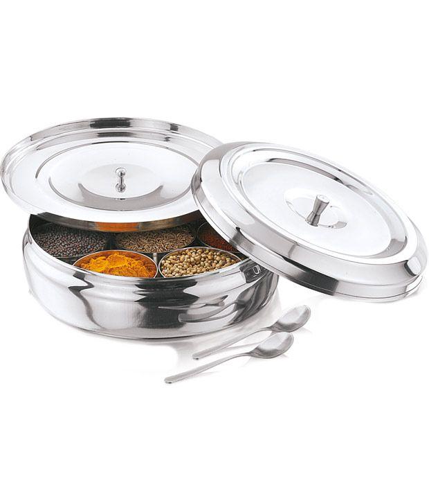 garuda stainless steel 7 bowl kitchen essential spices cirular box rh snapdeal com