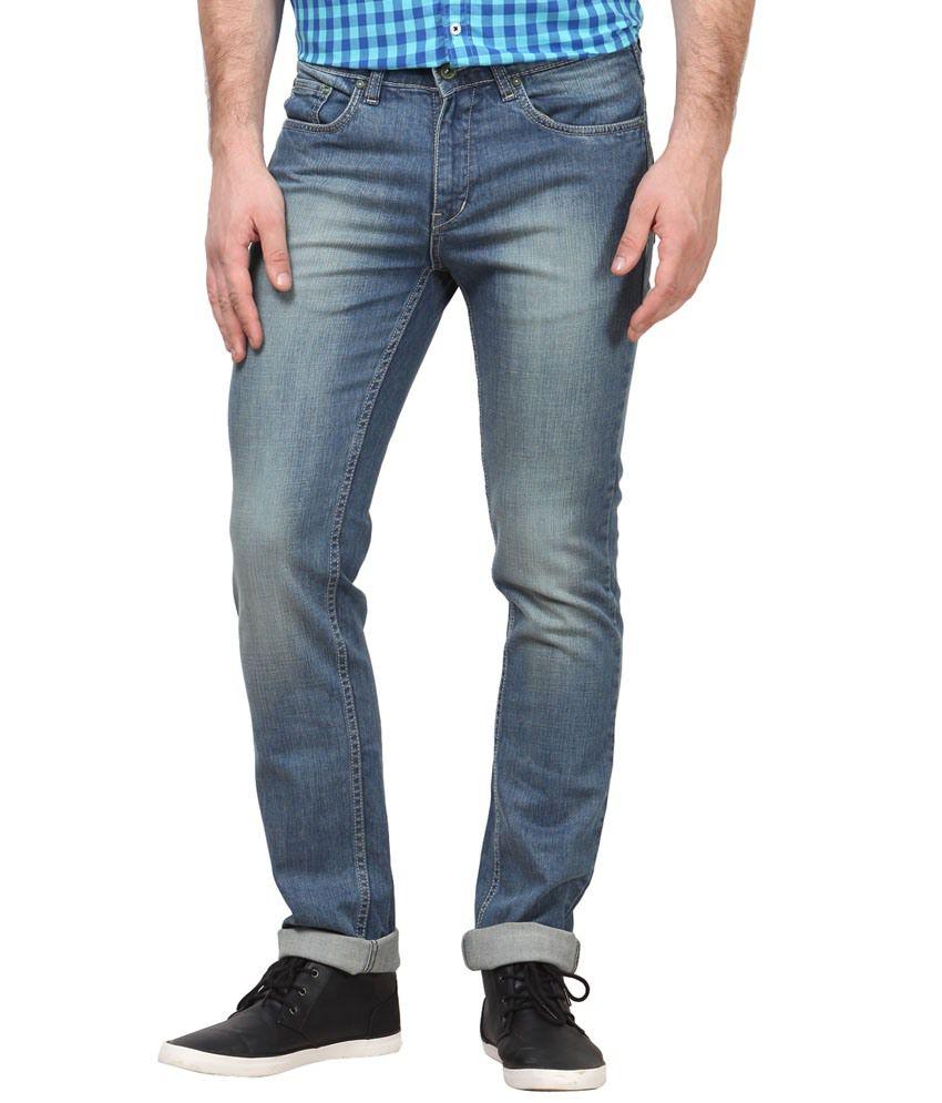 Richlook Blue Denim Low Waist Jeans