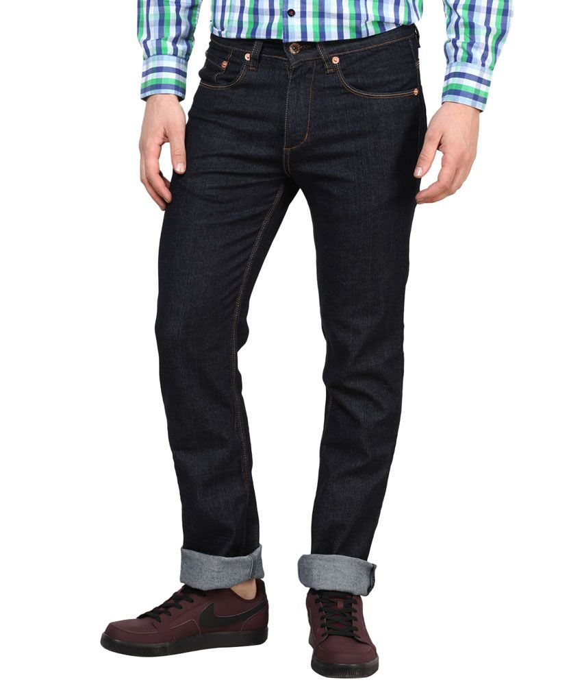 Richlook Dark Blue Denim Low Waist Jeans