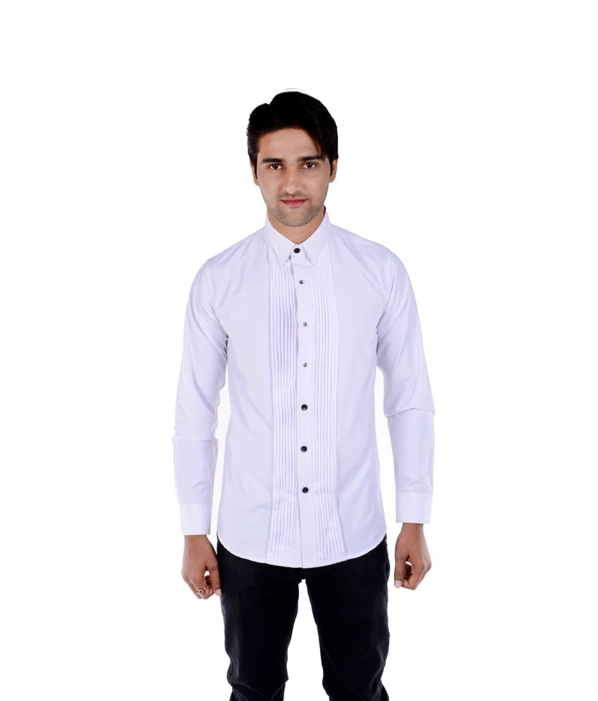 ac2cb843097 S9 Men Formal White Cotton Blend