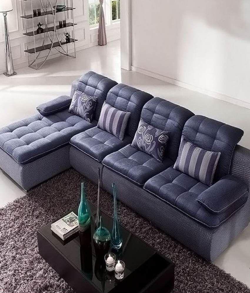 Sofa factory stylish dark blue l shape sofa buy sofa for Sofas con shenlong