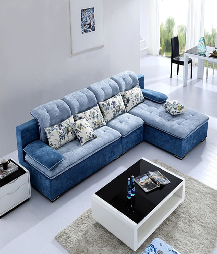 Elegant Indian Sofa Designs For Small Drawing Room In Home: Sofa Factory Stylish Multi Colour L Shape Sofa