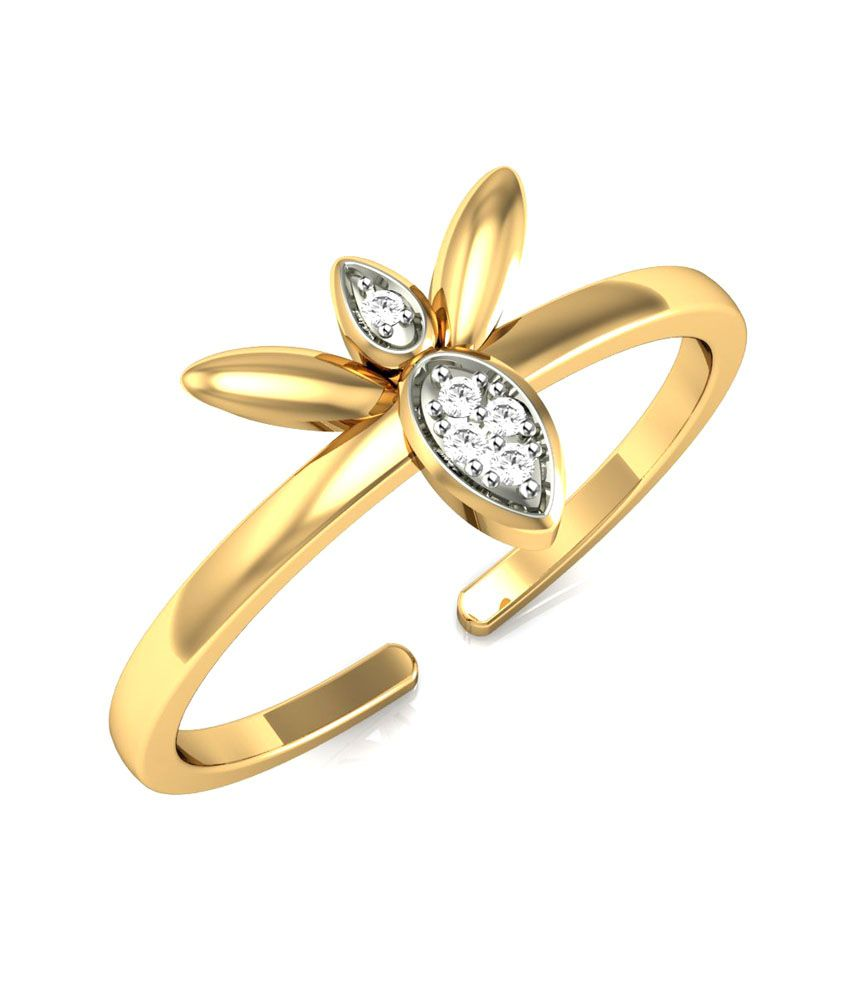 Vivre Jewels 14kt Yellow Gold Plated Silver Butterfly Ring
