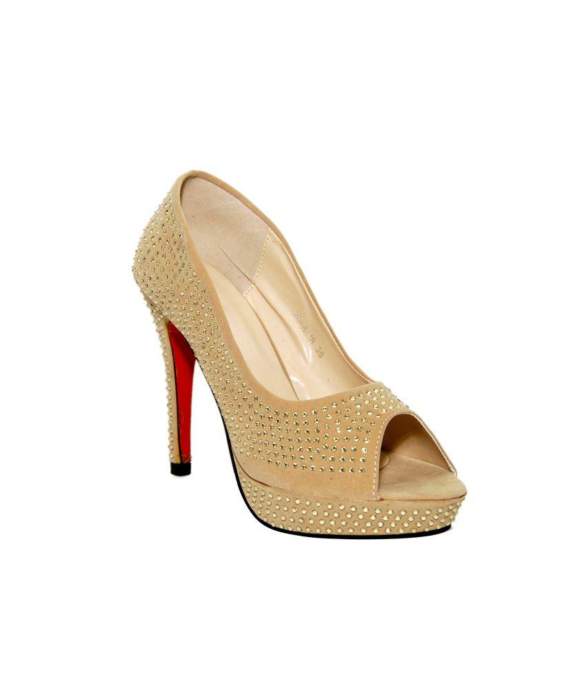 Yamuna Beige Heeled Sandals