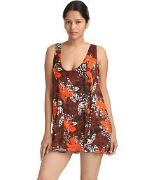 Facinating Lingerie Multi Color Delightful Pretty Bold Floral Print Swim-cover Up