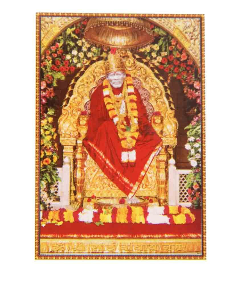 Bm Traders Shirdi Sai Baba Rolled Big Poster: Buy Bm Traders