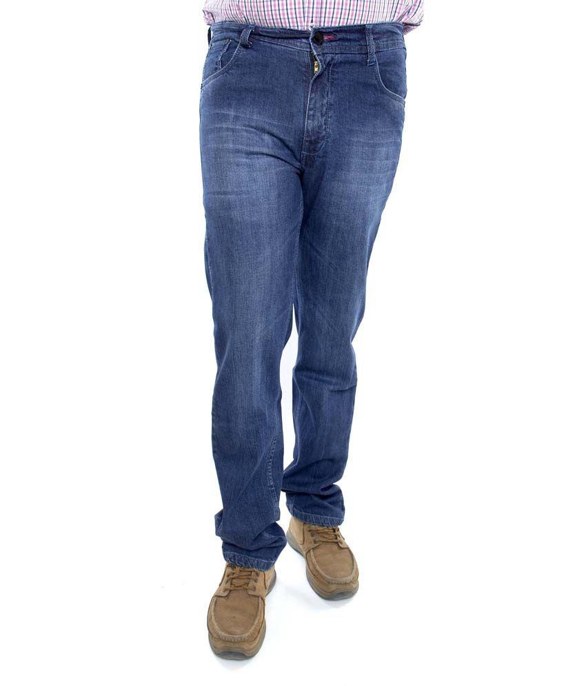 Hugz Plus Size Men's Designer Lycra Jeans